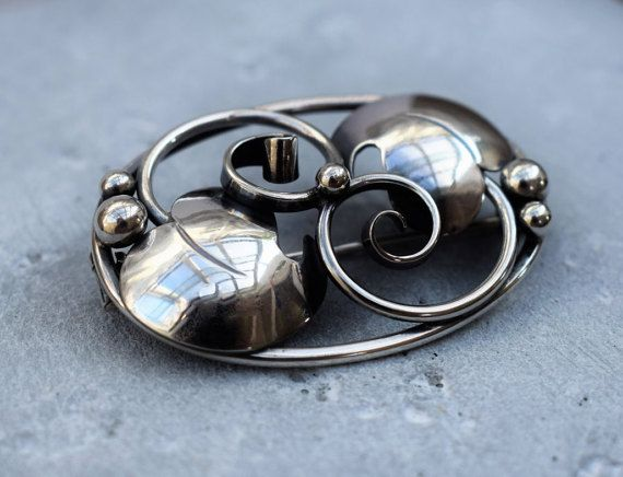 Vintage Danish Silver Brooch Henry Roland by PrettyDifferentShop