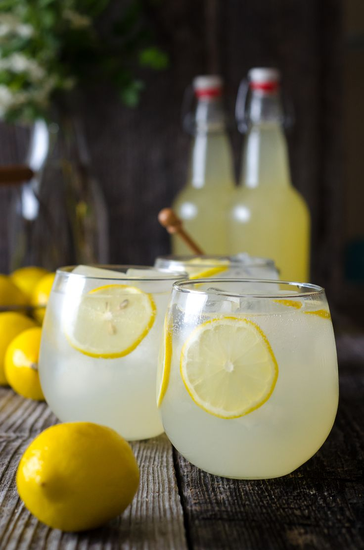 This naturally fermented lemonade soda is loaded with probiotics that give it its characteristic fizz and foam. A dryer soda, the lemonade is only slightly sweet and notes of honey play well with lemon. Serve it over ice, garnished with fresh lemon slices.