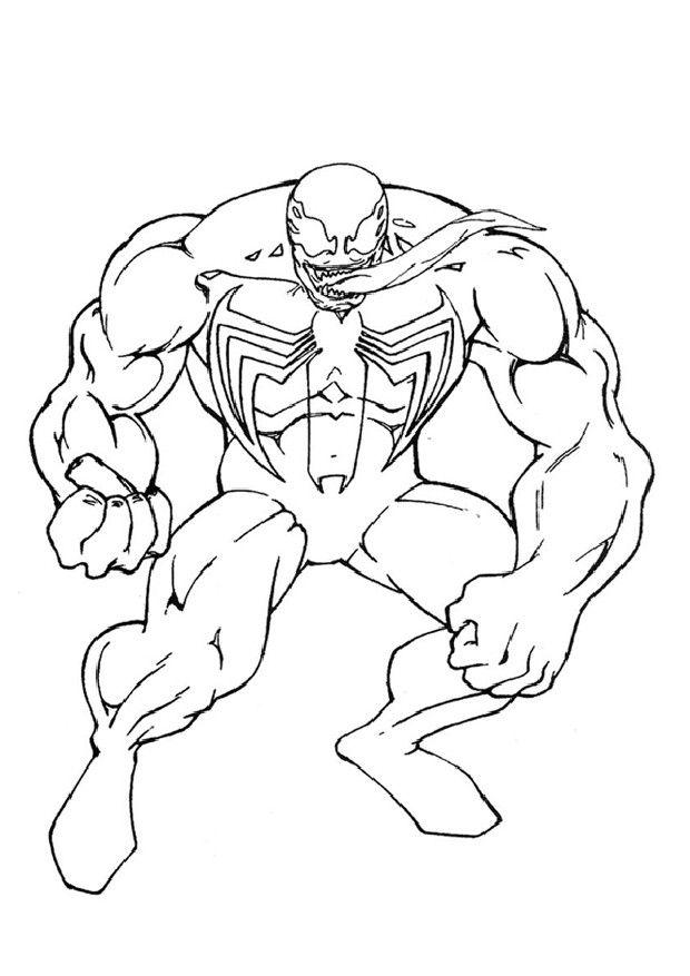 Coloriage Spiderman Venom A Imprimer En 2020 Coloriage Spiderman