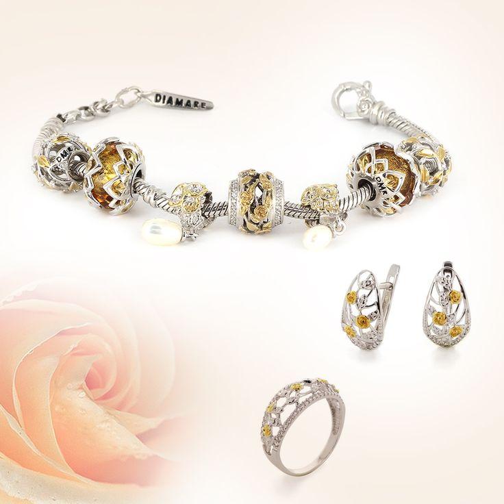Наши покупательницы часто задают вопрос какими украшениями дополнить браслеты Diamare.    В коллекциях бренда Diamare также представлены кольца, серьги и кулоны. Сегодня мы Вам покажем несколько сетов, в которых браслеты дополнены сережками.
