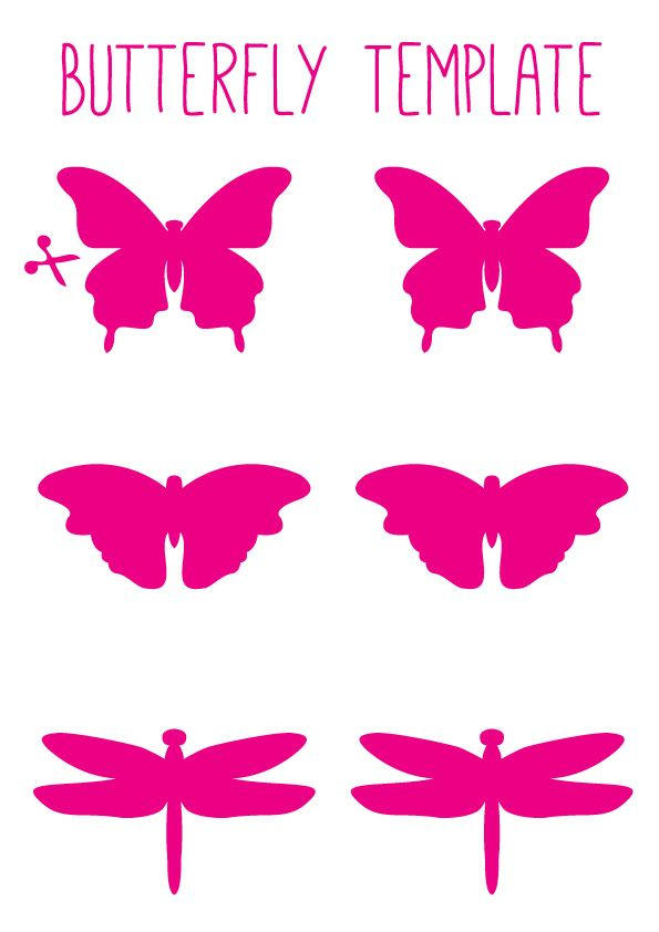 Butterfly template..to create beautiful Butterfly Art on the Stuck on You blog. www.stuckonyou.com.au/ourblog