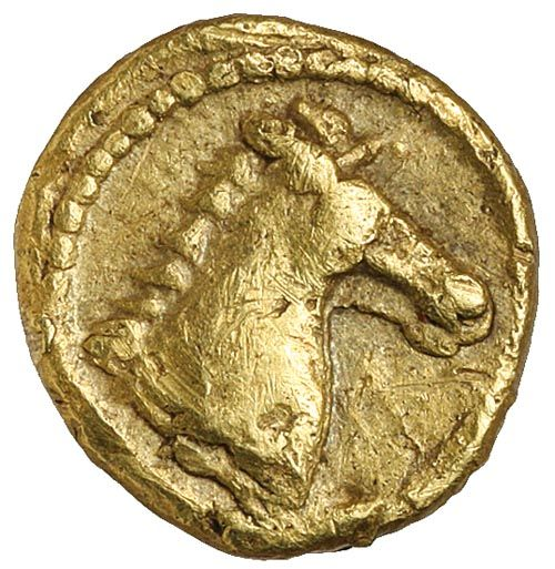 ZEUGITANIA, Carthage, (c.350-320 B.C.), electrum tenth stater... Click VISIT to see 10,000+ Gold Coins at MAD On Collections. Please feel free to pin or share this coin.