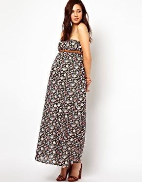 Immagine 4 di New Look - Vestito lungo premaman a fascia stampato