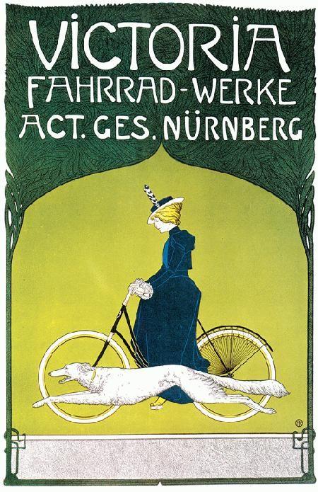 art nouveau french posters | Victoria Fahrrad Werke French Art Nouveau Print Poster Reprint | eBay