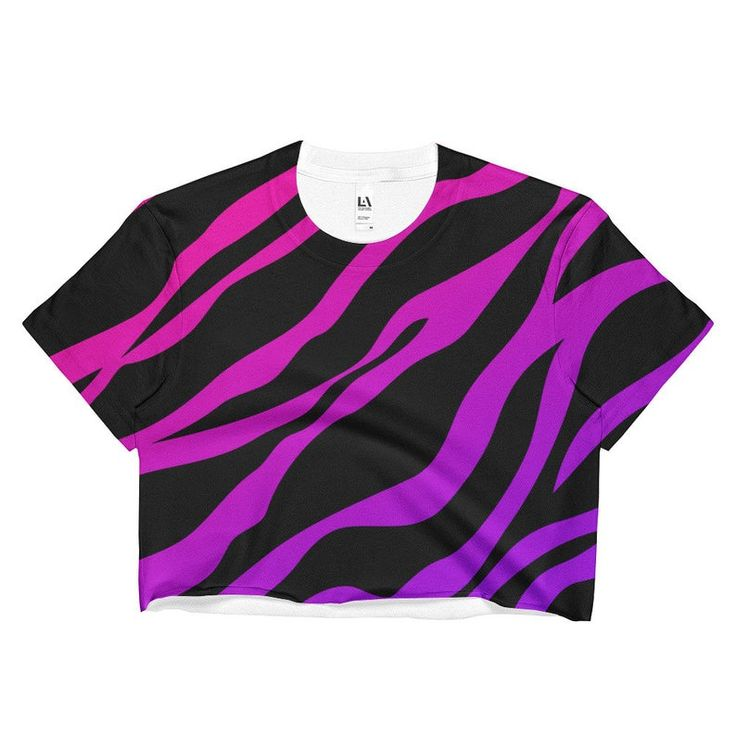 Zebra Print Rainbow Shirt Crop Top Punk Shirt Lisa Frank Kawaii Shirt Kawaii Clothing Harajuku Coachella Clothing 80s Clothing Rave Wear