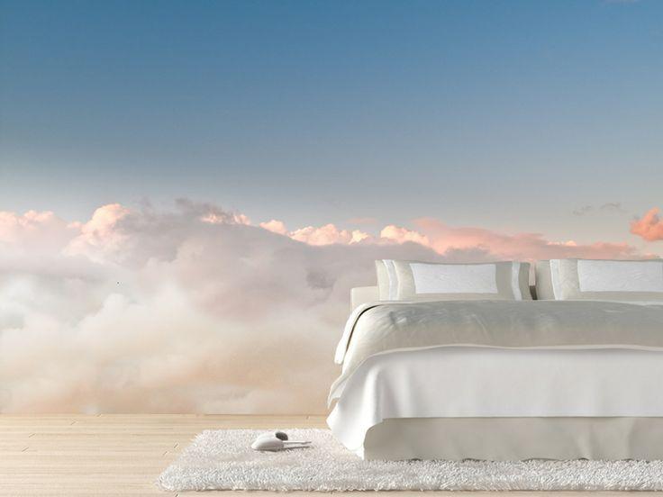 #Фотообои Фотообои в спальне: 115 идей дизайна с невероятными картинами на всю стену http://happymodern.ru/fotooboi-v-spalne-115-foto-neveroyatnye-kartiny-na-vsyu-stenu/ Бескрайнее голубое небо в закате