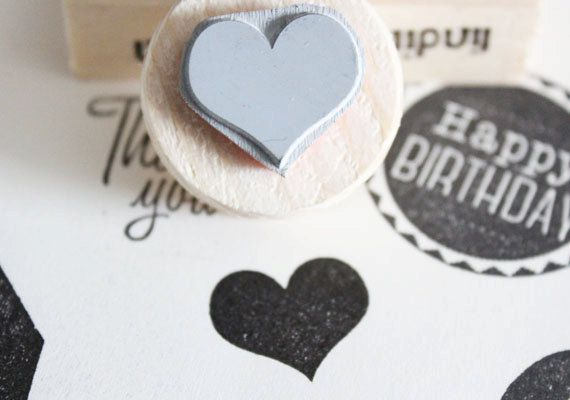 little heart stamp