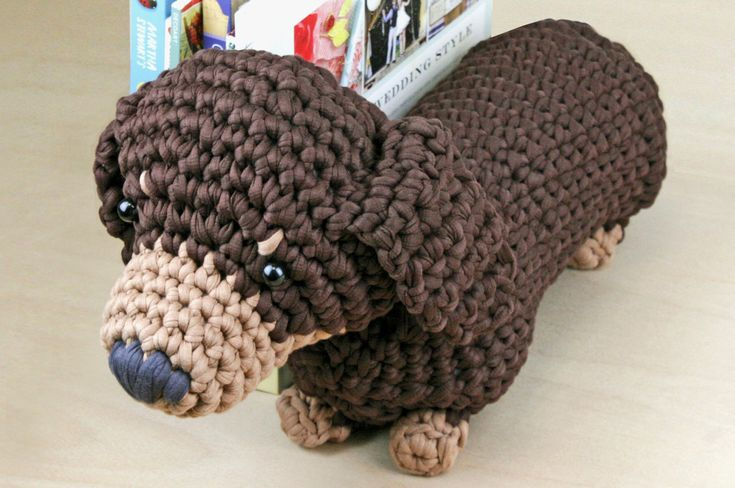 Free Knitting Pattern For Dachshund Dog : How to Crochet a Boodles Dog #Crochet #Boodles Crochet Pinterest Chihua...