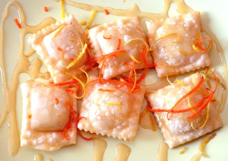 Raviolini fritti al ripieno di ricotta fresca con essenze di limone e arancio