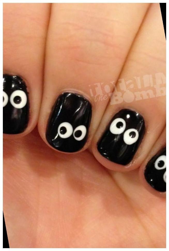 Spooky Eyeball Nails In 2020 Nail Art Diy Halloween Nails Easy Halloween Nails Diy