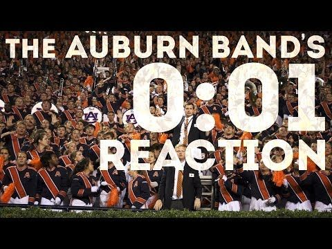 ▶ AU Band Reacts to 2013 Iron Bowl Win - YouTube --- Of particular interest -- the AUMB director Dr. Corey Spurlin (holding the white papers) is a Bama grad.