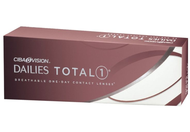 Our favorite daily disposable contact lens is the Alcon Dailies Total One. It is a great lens for all wearers and particularly for those who suffer from contact lens induced dry eye.