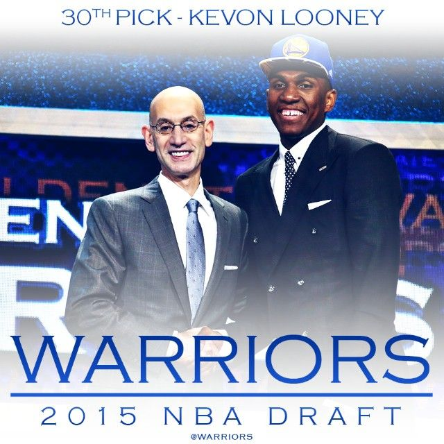 With the 30th pick in the 2015 #NBADraft, the #Warriors select Kevon Looney of UCLA.  Welcome to #DubNation, @flyght5!