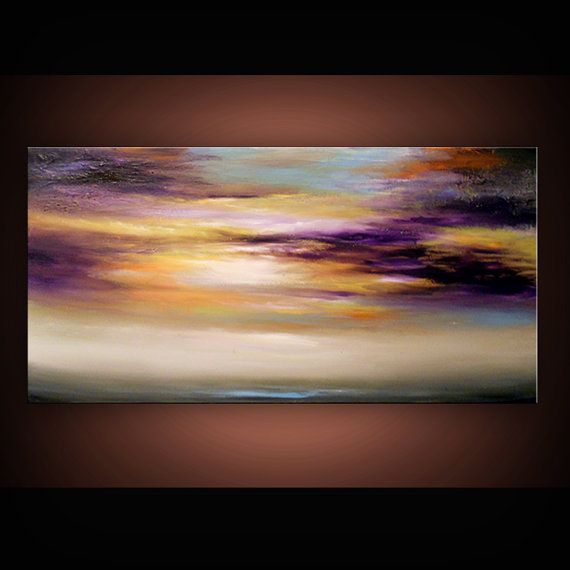 ORIGINAL cloud painting art abstract landscape by mattsart on Etsy, $300.00