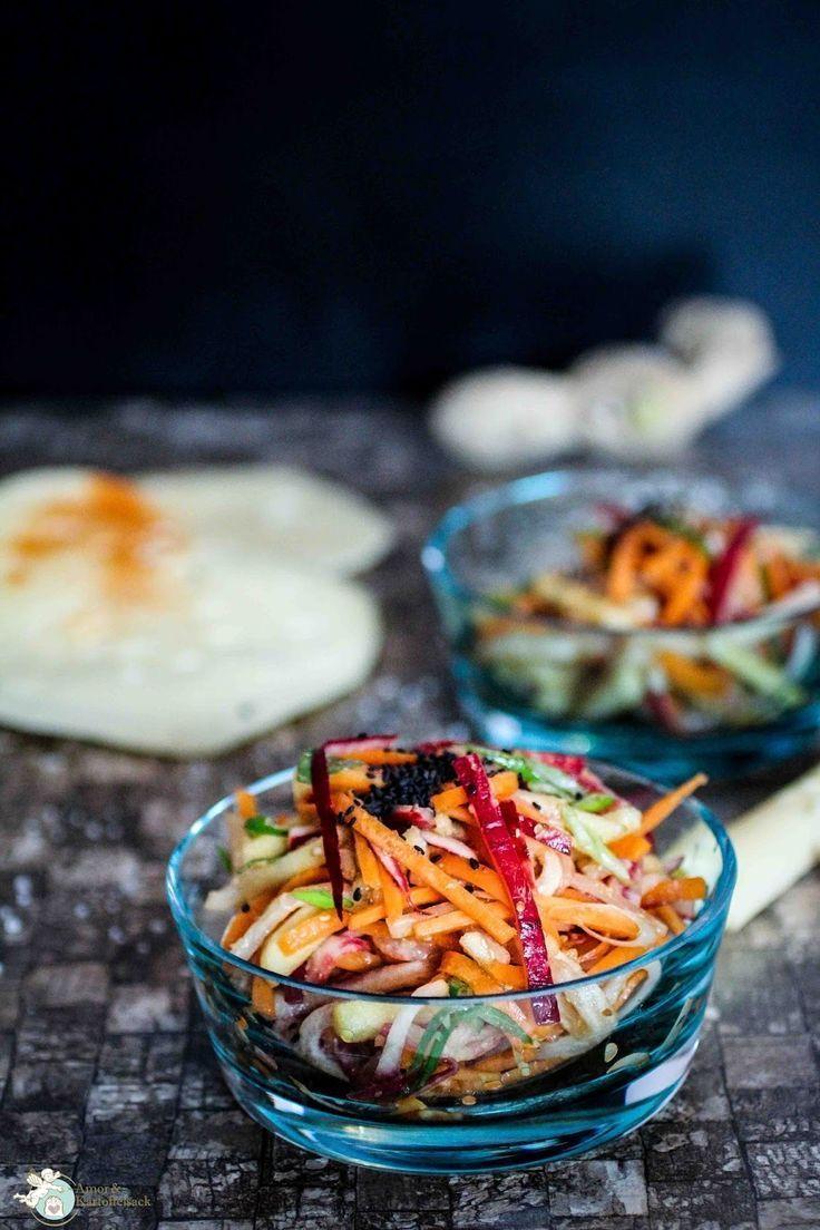 Rohkostsalat: Rettich-Karotte asiatisch