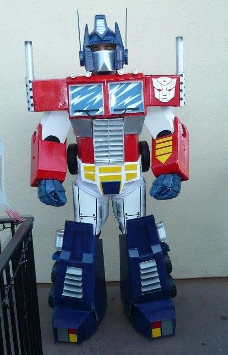 Transformers DIY costume. That's intense.