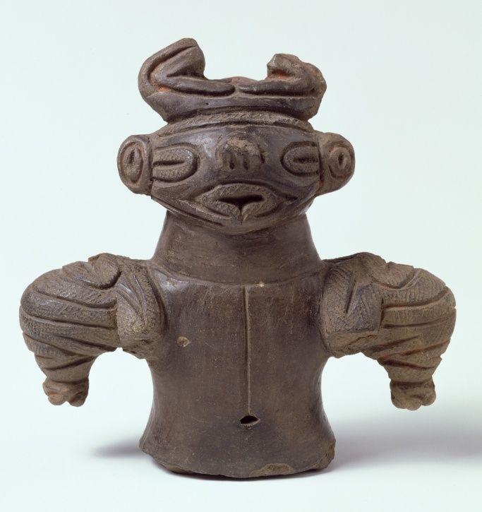 Fragment of a Dogu Figure, Japan, Final Jomon Period, Robert and Lisa Sainsbury Collection, UEA 1187, Photo: James Austin