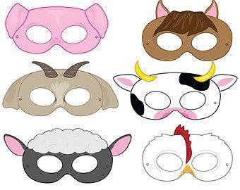 Детские маски из фетра