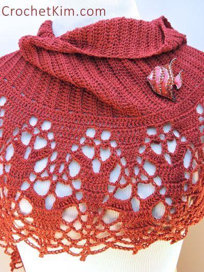 CrochetKim Free Crochet Pattern | Cinnamon Fling Wrap