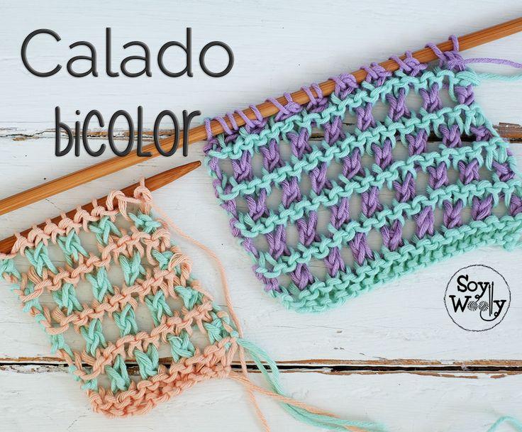 Mejores 24 imágenes de Curso para aprender a tejer con dos agujas en ...