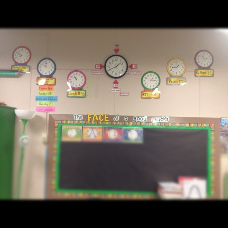 Classroom Enrichment Ideas ~ Display clocks in the classroom for each enrichment