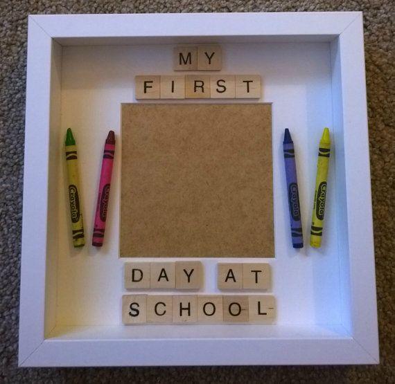 First day at school/nursery box frame by Forgetmeknotcrafty