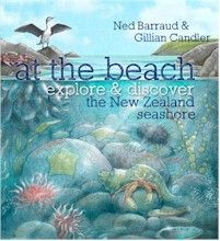 Aimed at children 5–8 years old, but with appeal for anyone curious about New Zealand's natural environment, At the Beach is a delightful introduction to the natural history of the New Zealand seashore. Including beautiful, factually correct illustrations (including detailed cross-sections) of three familiar habitats — the sandy beach, rockpools and mudflats. With a removable, waterproof cover.