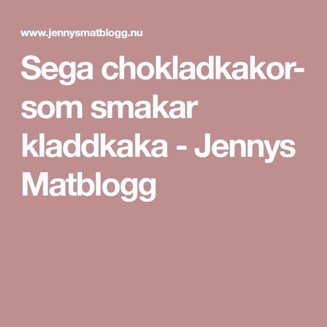 Sega chokladkakor- som smakar kladdkaka - Jennys Matblogg