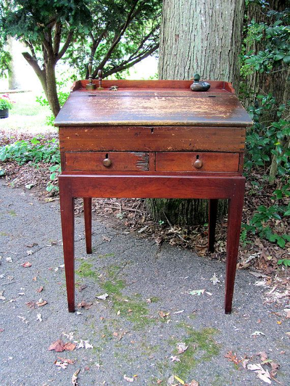Reserved Store Counter Cash Register Antique Wooden Slant