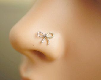 nose ring,nose stud,nose piercing,sterling silver nose ring,unique nose jewelry,cute nose ring,varabow nose ring