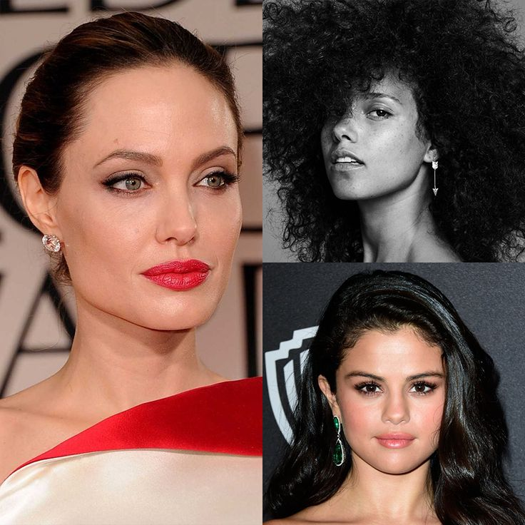 When it comes to Makeup, we're loving the Trending Looks for 2017. Get all the attention with a bold lip colour like Angelina Jolie. Love yourself and go for the fresh no makeup trend like Alicia Keys or subtler contouring like Selena Gomez.