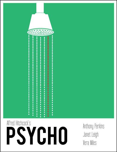 Psycho / Psicose #movie #filme #cinema #alfredhitchcock #psicose #poster #minimalism #minimalista