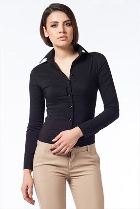 Haftalık Stil Rehberi by Olgun Orkun · Kadın Tekstil - Siyah Gömlek O&O-5B133008 %61 indirimle 34,99TL ile Trendyol da