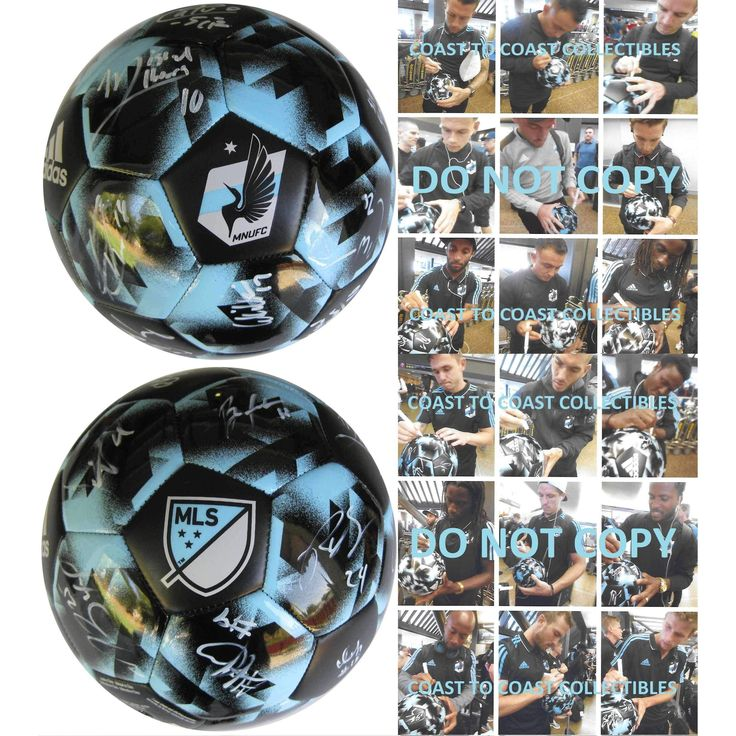 2017 Minnesota united FC, Team, Signed, Autographed, Logo Soccer Ball, a COA with the Proof Photos of Minnesota Players Signing Will Be Included