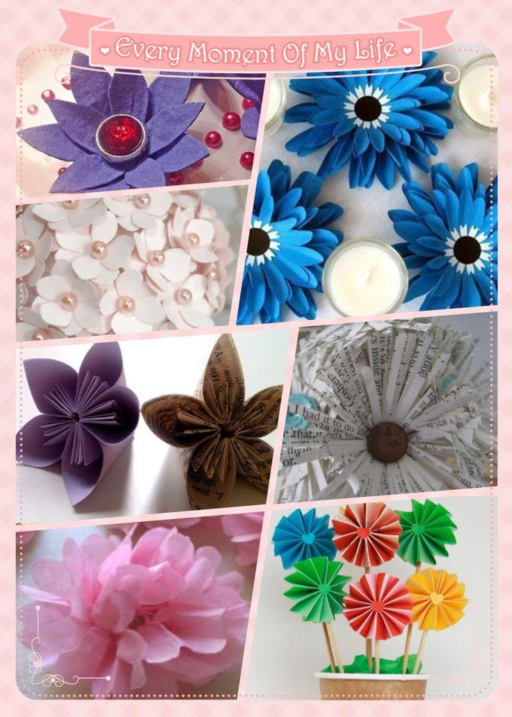 Conocer formas de hacer flores con papel o cartón nunca esta de más. Ve 7 ideas de flores con su paso a paso