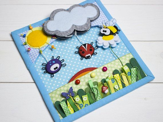 Custom quiet book page Busy book Educational toy Felt play