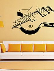 Wall+Stickers+Wall+Decals+Style+Personality+Guitar+PVC+Wall+Stickers+–+INR+Rs+111,886