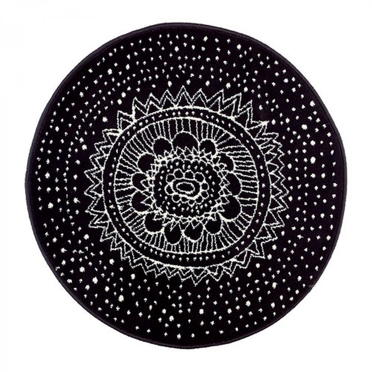 Attractive Brand New VIRRING Black And White Round Area RUG From IKEA Of Sweden.  Pretty White
