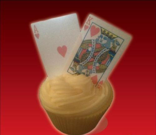 56 PLAYING CARDS Full Deck + Jokers Poker Casino Cupcake Edible Cake Toppers Fun in Home, Furniture & DIY, Cookware, Dining & Bar, Baking Accs. & Cake Decorating | eBay!