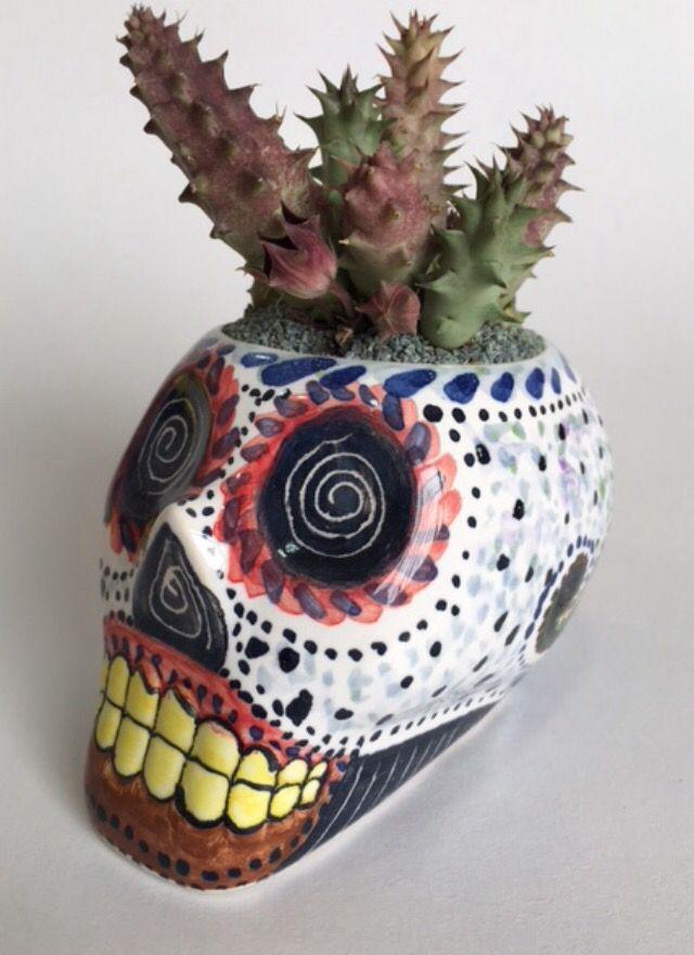 Calavera catrina con cactus