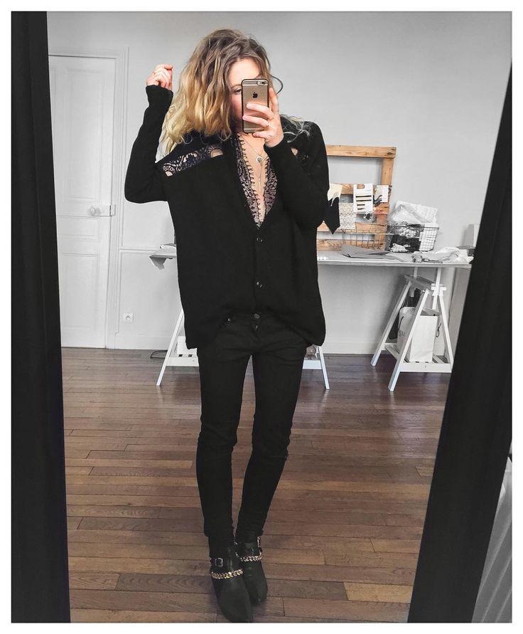 black gold cardigan Serge #eponymcreation body #asos sur @asos_fr jean…