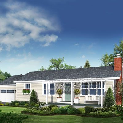 Illustration: Howard Digital | thisoldhouse.com | from Photoshop Redo: How to Layer a Ranch With Cottage Charm