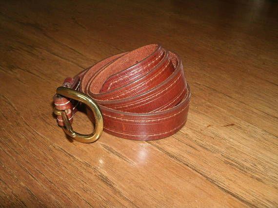 Ceinture en cuir véritable bride Vintage Landes