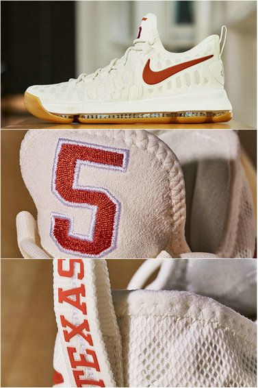 899640-110 Nike Kevin Durant KD 9 IX White Burnt Orange Texas Real ... 033bf5ead542