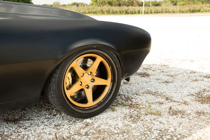 Does the matte black and carbon scheme make this car look somewhat evil? Steve Hummel's famous  '67 #Chevrolet #Camaro is powered by a Holley fuel-injected LSX mated to a Tremec T-56 transmission and rides on Detroit Speed suspension, JRi coilovers, Baer brakes, and 19x10.5/20x12 #Forgeline #FF3C Concave wheels finished with Transparent Gold centers & Black Pearl inners & outers! See more at: http://www.forgeline.com/customer_gallery_view.php?cvk=1960  Photo by ShortShift.