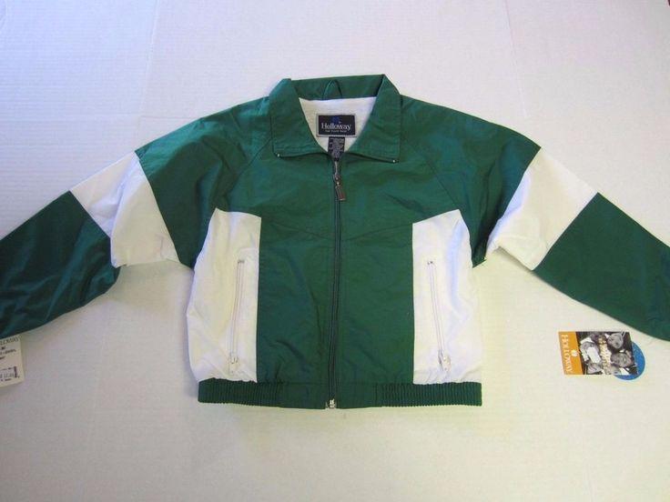 Holloway Jacket Youth S Green White Windbreaker Lined Athletic NEW CLEARANCE  #Holloway #BasicJacket