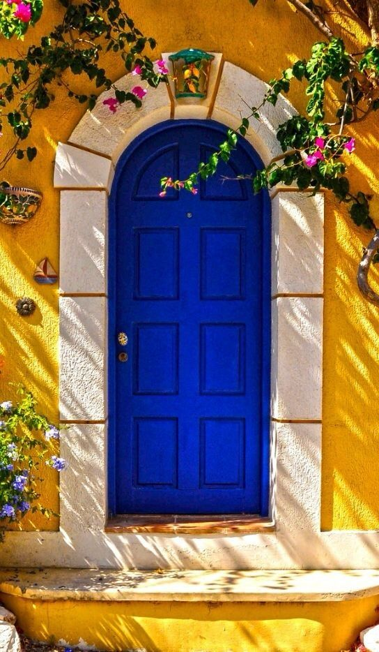 A blue door, Kefalonia, Greece
