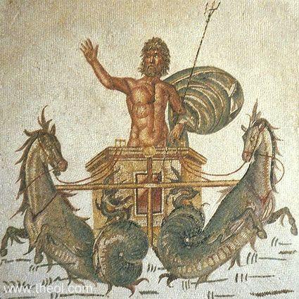 Chariot of Poseidon - Bardo Museum, Tunis, T unisia
