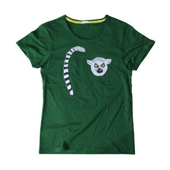 S~Lサイズカラー:グリーンコットン100%TcollectorのTシャツ。柔らかくて着心地の良いボディー。おしゃれで長ーいしましまのシッポにぶら下がりたくな... ハンドメイド、手作り、手仕事品の通販・販売・購入ならCreema。