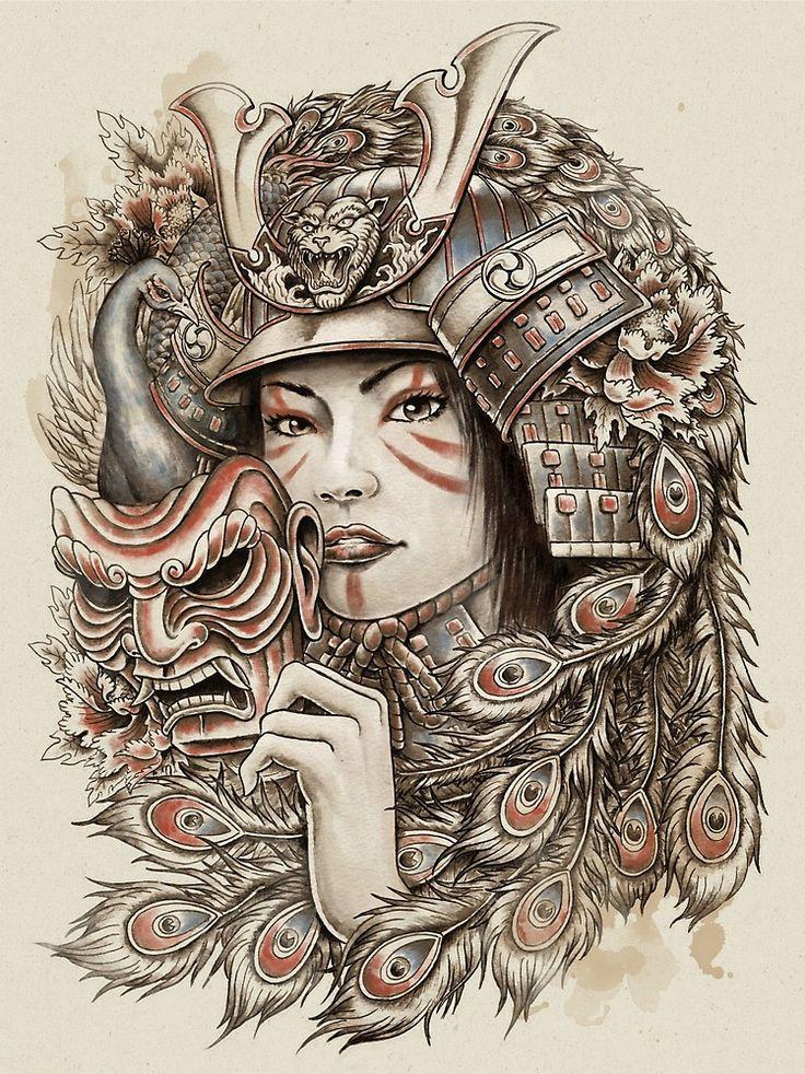 Peacock Samurai by HINKLE